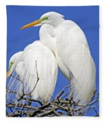 A Loving Couple Fleece Blanket