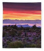 A Magical Desert Morning  Fleece Blanket