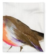 A Magical Little Robin Called Wisp Fleece Blanket