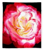 A Magnificent Rose Fleece Blanket