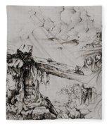 A Man Of Sorrows Fleece Blanket