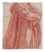 A Man Standing To Right Fleece Blanket