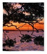 A Mangrove Morning Fleece Blanket