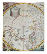 A Map Of The North Pole Fleece Blanket