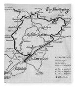 A Map Of The Nurburgring Circuit Fleece Blanket