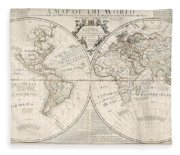 A Map Of The World Fleece Blanket