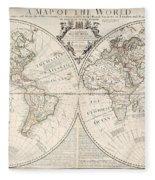 A Map Of The World Fleece Blanket