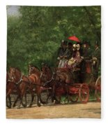 A May Morning In The Park Fleece Blanket