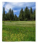 A Meadow In Lassen County Fleece Blanket