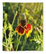 A Mexican Hat Flora Portrait Fleece Blanket