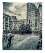 A Moment In Southwark, London. Fleece Blanket