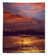 A Moment Of Reflection Fleece Blanket