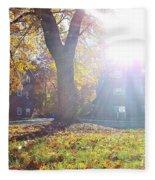 A Morning In Fall Fleece Blanket