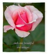 A Mother Is Like A Flower Fleece Blanket