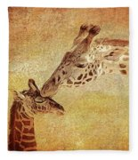 A Mother's Kiss Painted 2 Fleece Blanket