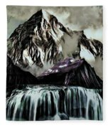 A Mountain To Think About Fleece Blanket