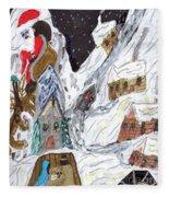 A Mountain Village Fleece Blanket