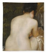 A Naked Woman Seen From Behind Fleece Blanket