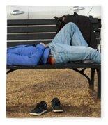 A Nap In The Park Fleece Blanket