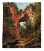 A Natural Bridge In Virginia Fleece Blanket