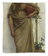A Neapolitan Flower Seller, 1883  Fleece Blanket