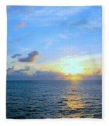 A New Dawn At Sea Fleece Blanket