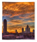 A New Day Atlantic Station Sunrise Fleece Blanket