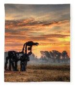 A New Day The Iron Horse Fleece Blanket