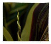 A New Leaf Is Born Fleece Blanket