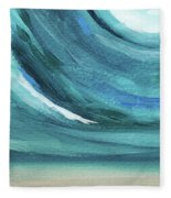 A New Start- Art By Linda Woods Fleece Blanket