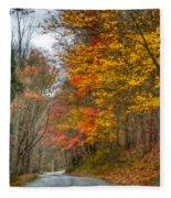 A Newport Autumn Fleece Blanket