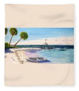 A Nice Day At The Beach Fleece Blanket