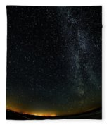 A Night At The Beach 10 Fleece Blanket