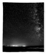 A Night At The Beach 11 Bw Fleece Blanket