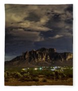 A Night In The Superstitions  Fleece Blanket