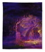 A Night Of Weeping In The Garden Gethsemane Israel 2008 Fleece Blanket