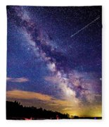 A Northern View Of The Milky Way Fleece Blanket