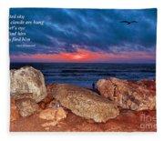 A Painted Sky For The Poet's Eye Fleece Blanket