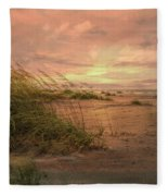 A Painted Sunrise Fleece Blanket