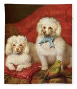 A Pair Of Poodles Fleece Blanket