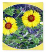 A Pair Of Wild Susans Fleece Blanket