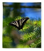 A Pale Swallowtail Fleece Blanket