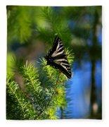 A Pale Swallowtail Vertical Fleece Blanket