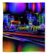 A Parallel Las Vegas Fleece Blanket