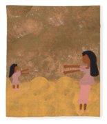 A Parent And Child Reunion Fleece Blanket