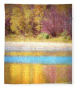 A Pastel Autumn Fleece Blanket