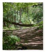 A Path In The Woods Fleece Blanket