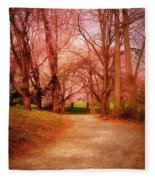 A Path To Fantasy - Holmdel Park Fleece Blanket