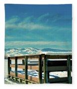 A Peaceful Pier Fleece Blanket