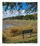 A Peaceful Place Fleece Blanket
